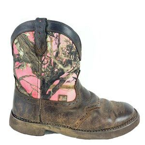 Justin Gypsy Pink Camo Womens Leather Boots Sz 10